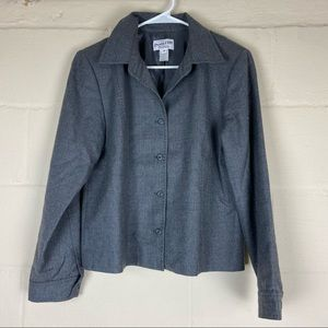 pendleton wool gray blazer pea coat jacket 10